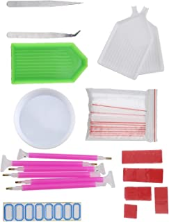 SING F LTD 111pcs Diamond Painting Tools Kit 12.3cm 5D Diamond Embroidery Painting Accessories