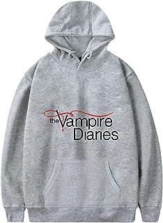 MINIDORA The Vampire Diaries Felpa con Cappuccio da Donna Uomo Maniche Lunghe Unisex Felpe Casual