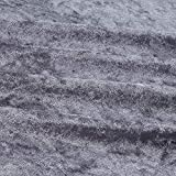 Ben Textiles Stretch Panne Velvet Velour Grey Fabric By The Yard