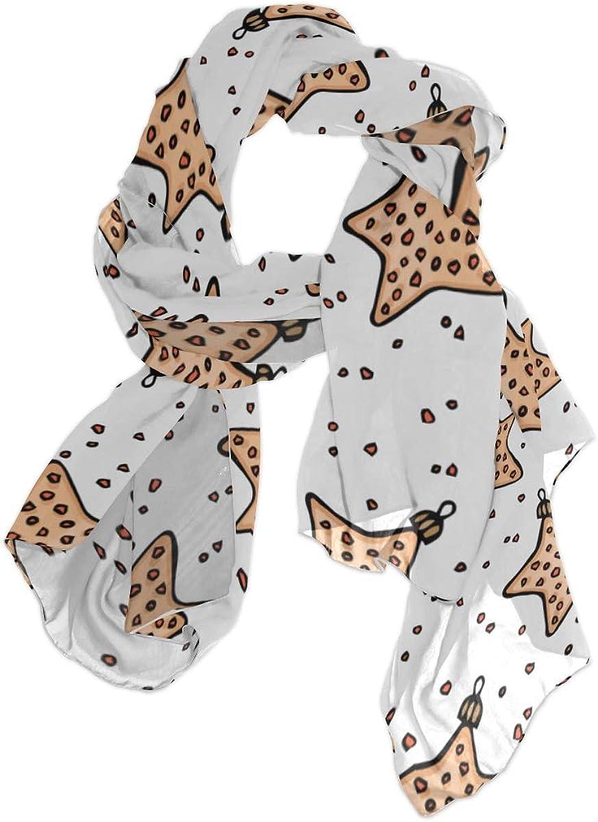 Fashion Scarf Colorful Romantic Pentagram Stars Scarf Long Lightweight Long Shawl Wrap Lightweight Print Scarves Large Shawl Wrap Shawl Wrap Scarf