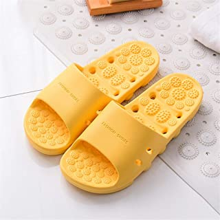 Women Shoes Slides Summer Platform Slippers Men Woman Couple Flip Flops Sandals Holiday Beach Slides Foot Massage (Color : Yellow, Shoe Size : 40)