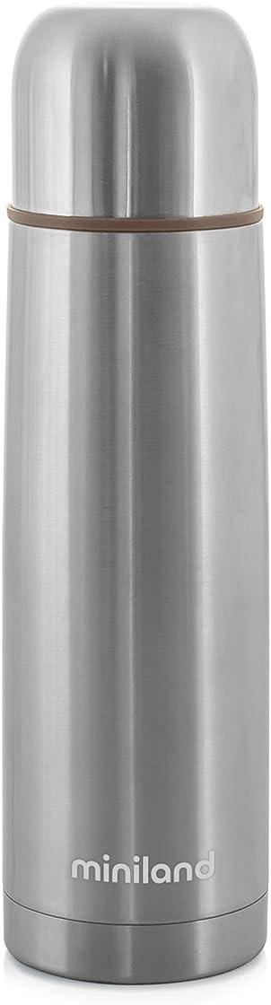 Thermos per liquidi da 500ml di acciaio di gran qualità e valvola antigoccia con finitura metallica B07C3L32XG