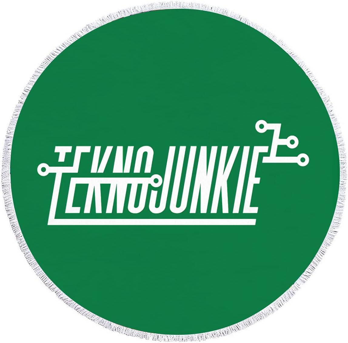 Fees Japan Maker New free TeknoJunkie Dark-Beach Round Towel Dry Quick Beach T