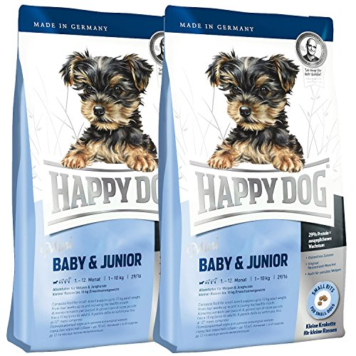 2 x 4 kg Happy Dog Surpreme Mini Baby + Junior Welpenfutter Welpen Spezialfutter