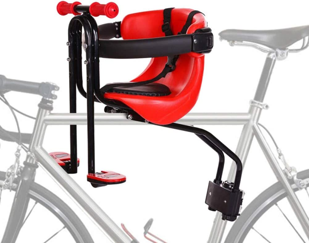 Lznxzq Bicycle Child Seat, Front Mount Bike Infant Safety Seat with Safety Belt, Suitable for Children Aged 8 Months to 4 Years