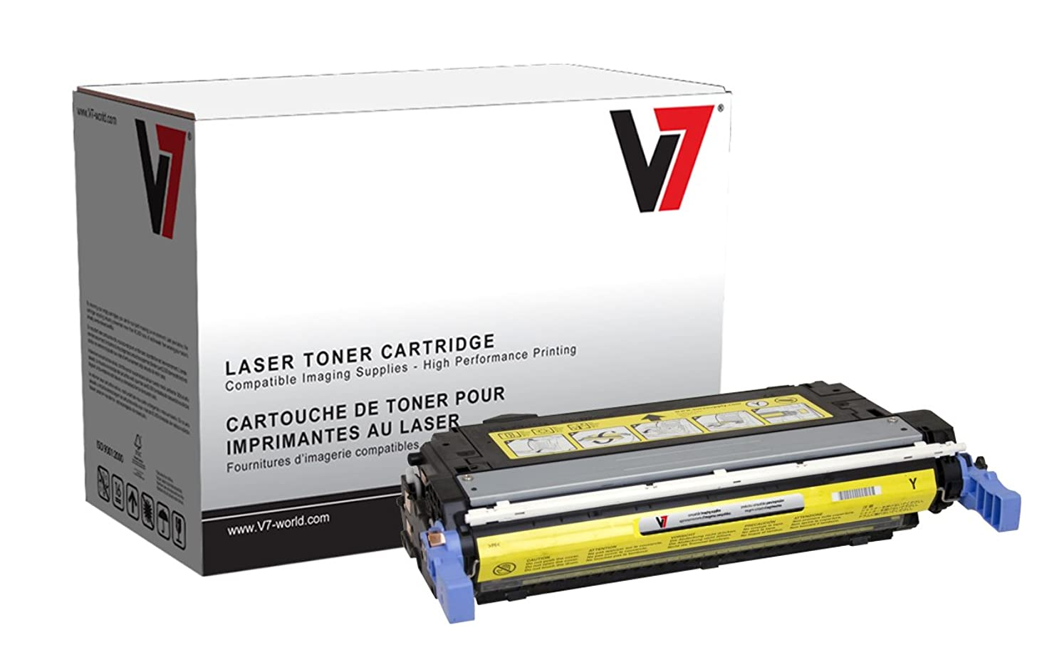 V7 V73800Y Toner Cartridge for HP Printers (Replaces Q7582A, Yield up to 6000 Pages)