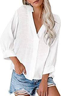 Hot SalesFashion NRUTUP Women Top Long Sleeve Pocket Button Tee Casual Popular Blouse Tops(S-5XL)
