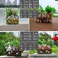 ガーデン装飾シミュレーション動物鉢植えフラワーポット庭景観の芝生の装飾工芸ギフトのための耐水性樹脂の庭の彫像 (Color : C, Size : 31*22*20cm)
