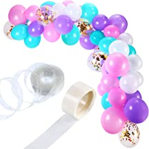 Tatuo 112 Pieces Balloon Garland Kit Balloon Arch Garland for Unicorn Birthday Party Decorations (Pink Purple Green)