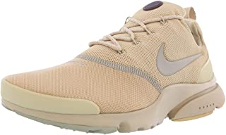 Nike Mens Presto Fly B Fabric Low Top Lace, Mushroom/Mushroom-Khaki, Size 13.0