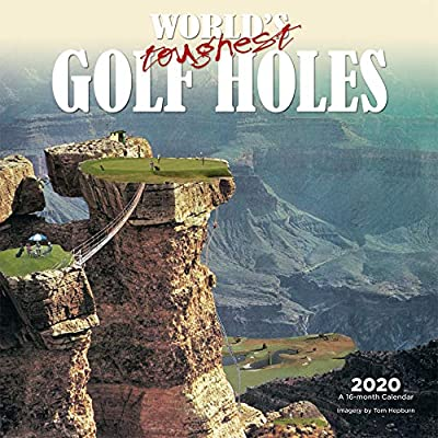 World's Toughest Golf Holes 2020 12 x 12 Inch Monthly Square Wall Calendar by Wyman Publishing, Golfing Outdoor Sport