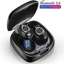Luisport IPX7 Waterproof Bluetooth Headphones Earphones,6-8 Hours Play Wireless Headphones Earbuds Earphones Cordless Headphones Gym Headphones for Men and Women (B-Red)