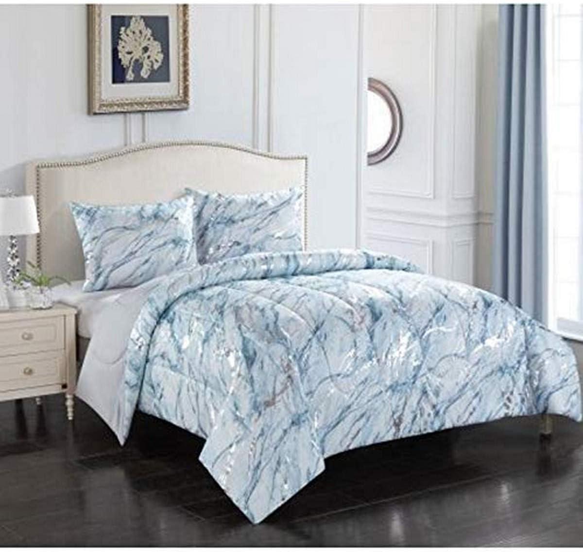 Idea Nuova Comforter Set Polyester Silver Twin Xl Amazon Co Uk Kitchen Home