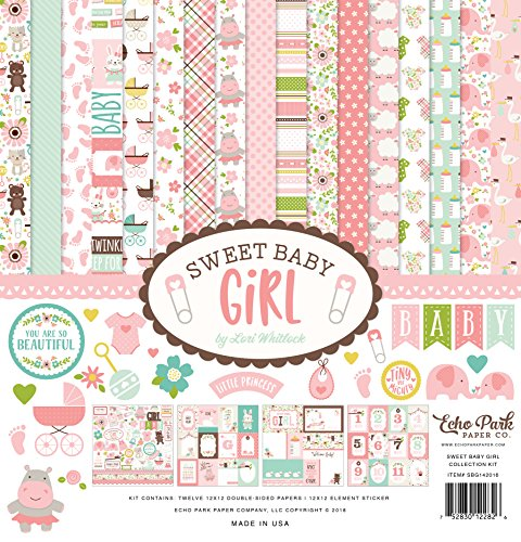 Echo Park Paper Company Dulce bebé niña Colección Kit