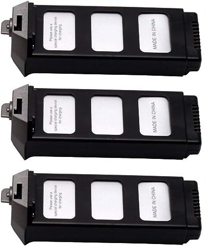 HONGIGI 3pcs 7.4V 1800mAh Li-po Batterie avec Chargeur 4 en 1 pour MJX Bugs 5W B5W Drone Quadricoptère Avion UAV Parcravate Accessoires, gris
