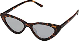 BSG1050 - Plastic Small Extreme Cat Eye Sunglasses