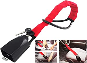 $31 » shuaike Universal Anti Theft Steering Wheel Steel Lock to Safety Belt Lock Catch Car Anti-Theft