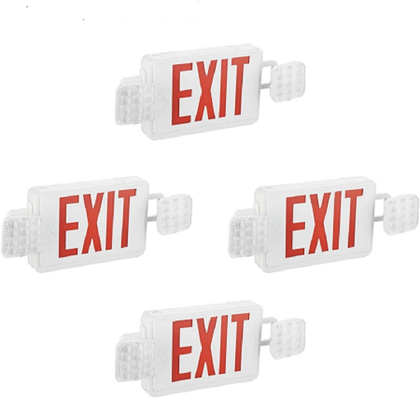 SPECTSUN wholesale 4 Pack Red Exit Sign Emergency with Lighting Battery Superior Ba