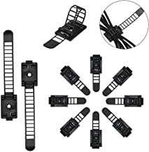 50 Pcs Adjustable Cable Clips,Viaky Self Adhesive Black Wire Clips Cable Management Cable Organizer Wire Holder Clamps - B...