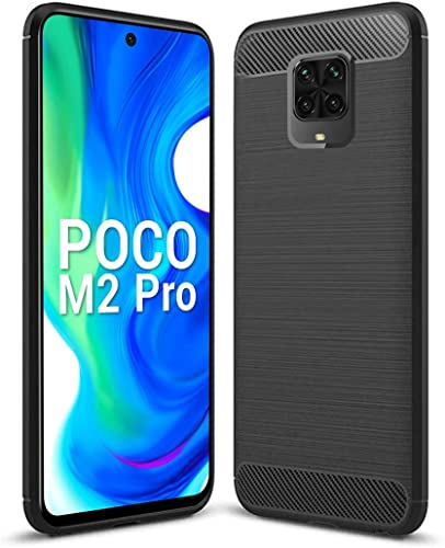 NISHTECH Carbon Fiber Hybrid Armor Drop Tested Shock Proof TPU Back Case Cover for Redmi Note 9 pro Pro Max Poco M2 pro