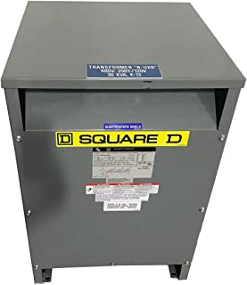 SQUARE D EE30T3HISNLP-U 30 280 480 Used Sorgel 3 Phase General Purpose Transfomer Class AA - Used