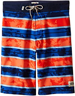 Vans Boys Windlass Boardshorts、ドレスブルー/オレンジ、サイズYouth 27?–?14?Big
