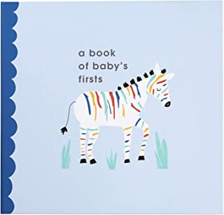 C.R. Gibson ''A Book of Baby's Firsts'' Rainbow Zebra First Year Baby Memory Book, 9.5'' x 9''
