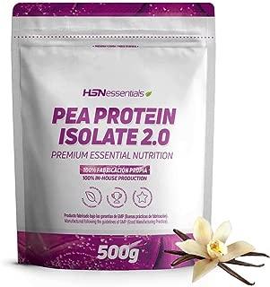 Proteine Pois Isolee HSNessentials Pea Protein Isolate pour Les Vegetaliens Vegan Protein  84  Proteine  Edulcoree avec Stevia sans Lactose  sans Gluten Saveur Vanille 500g
