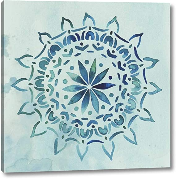 Watercolor Mandala Iii By Grace Popp 24 X 24 Canvas Art Print Gallery Wrapped Ready To Hang Posters Prints