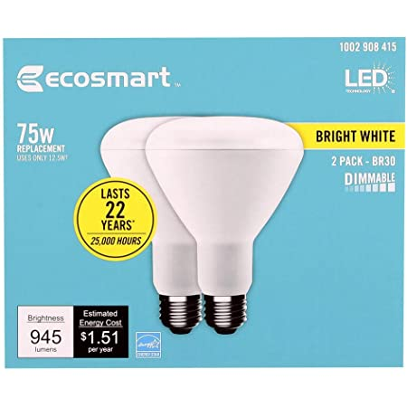 Ecosmart 75 Watt Equivalent Br30 Dimmable Energy Star Led Light Bulb Bright White 4 Pack Amazon Com