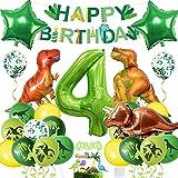 Globos Dinosaurios, Dinosaurios Globo 4 Años Cumpleaños, 4 Año Fiesta de Cumpleaños Decoracion Niño, Fiesta de Dinosaurio Globo, Decoracion Cumpleaños Dinosaurios