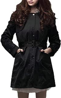 Macondoo Women Fashion Faux Fur Lined Hooded Parkas Coat Down Jacket