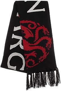 Game Of Thrones Jacquard Knit Targaryen Fire Cannot Kill A Dragon Scarf