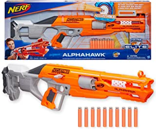 NERF Elite - Accustrike Alphahawk Blaster - inc 10 Official Darts - Kids Toys & Outdoor Games - Ages 8+