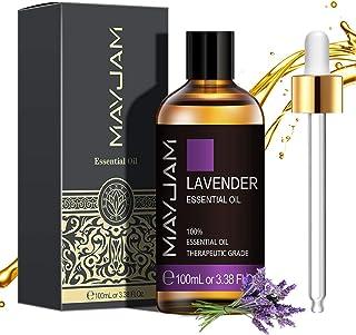MAYJAM Aceites Esenciales de Lavanda 100 ml, 100% Aceites Esenciales Naturales Puros, Aceite Esencial de Aromaterapia de G...