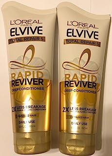 L'Oreal Paris Elvive Deep Conditioner - Rapid Reviver - Total Repair 5 - For Damaged Hair - Net Wt. 6.0 FL OZ (180 mL) Per...