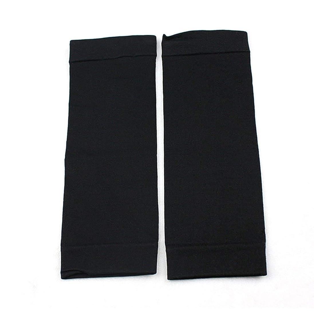 半導体矢じり睡眠1ペアウエストニッパーT高燃焼脂肪靴下圧縮レギンスレッグウォーマー圧力脂肪薄い脚パンツ燃焼脂肪ガード - ブラック