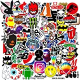 100PCS Fashion Brand Stickers for Laptop,Mackbook,Funny Cool Aesthetic Hypebeast Stickers Decals Pack for Car,Motorcycle,Skateboard,Bikes,Travel case,Snowboard,Trucks,Van,Luggage,Tool Box[Waterproof