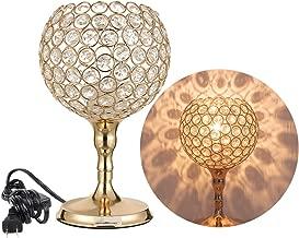 Crystal Spherical Desk Lamp Festive Decorative Table Lamps Exquisite Bedside Nightstand Light Lamps for Living Room, Bedroom, Dining Room, Office, Dresser, Hallway