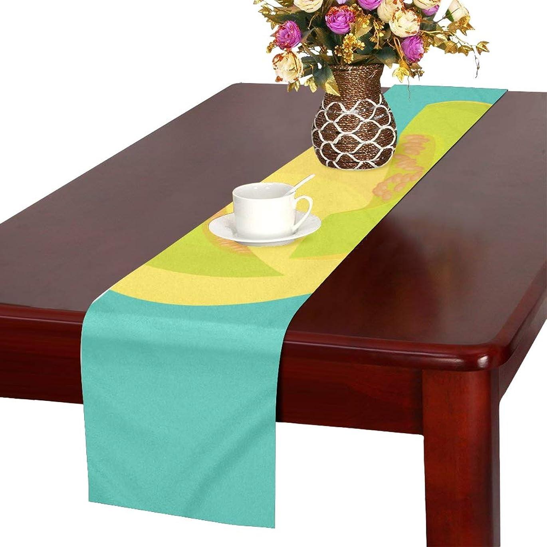 狼架空のフェードアウトLKCDNG テーブルランナー 新鮮なメロン クロス 食卓カバー 麻綿製 欧米 おしゃれ 16 Inch X 72 Inch (40cm X 182cm) キッチン ダイニング ホーム デコレーション モダン リビング 洗える
