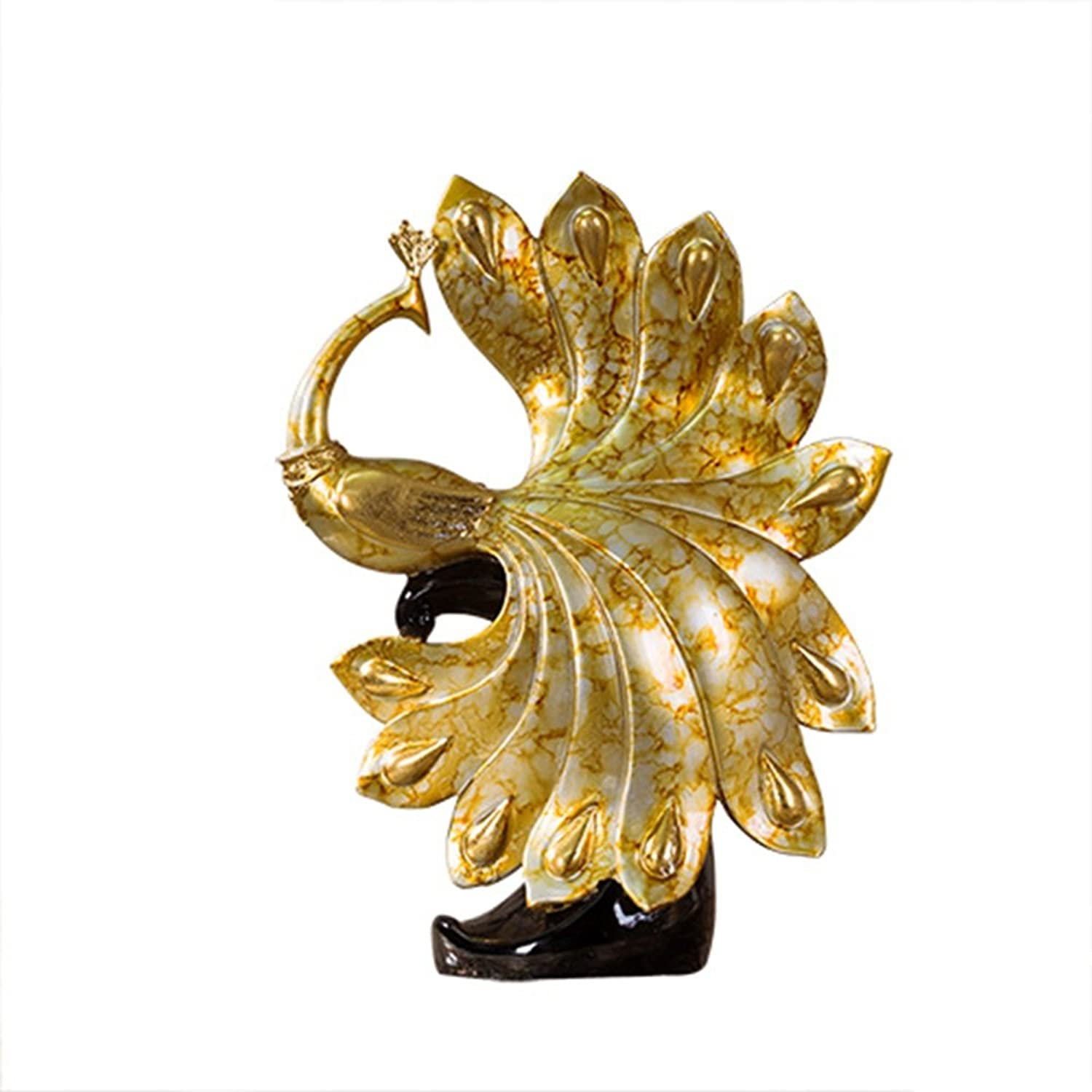 WENBO Home- Peacock Open Screen TV Cabinet Wine Cabinet Decorations Home Improvement Works of Art -Desktop Ornaments