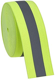 Jocon Safety SF8100 Sew On Florescent Reflective Elastic Tape 2X118-Green