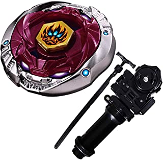 LINKDOO New Best Bey Metal Fusion Starter Phantom Orion B:D 4D High Performance Battling Top BB-118(BB118) Toys and Bey Ruler String Launcher and Launcher Grip(Black) Gift Toys for Children