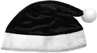 Child Black Plush Santa Hat - Kids Holiday Xmas Christmas Costume Party Hat