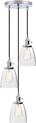 Phansthy 16.6CM Applique Murale Industrielle Lampe Murale Vintage E27 Luminaires en Métal pour Grenier, Cuisine,Salle à Manger(ampoule non incluse) Vernis