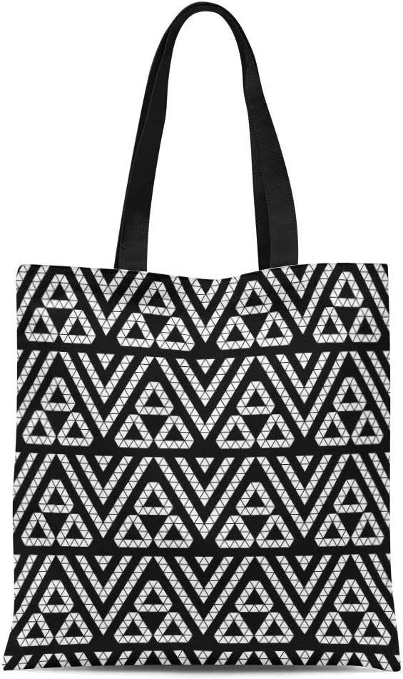 Tote bag in white or black cotton printed with 4 mudras from BARATA NATYAM.