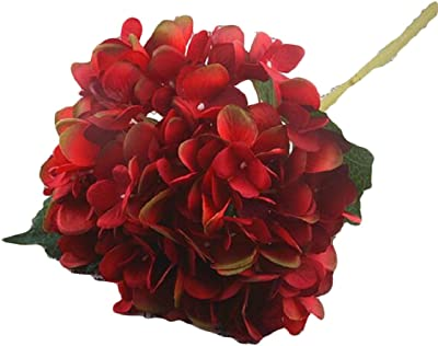ZXFHZS Artificial Hydrangea Silk Flowers for Wedding Bouquet, Flower Arrangements 2 Bundles 3 OS