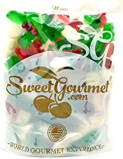 SweetGourmet Christmas Gummi Bears   Red, Green, White   Holiday Candy   1.5 pounds