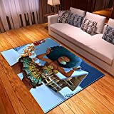 ZXDYLY Rug House Tapis de Salon Noël Fille 4 Carpet Tapis de Sol Chambre Table Basse Tapis Modèle Chambre Tapis 3D Imprimé Polyester Tapis Anti-Sale Tapis Chien, Taille: 60x90 cm