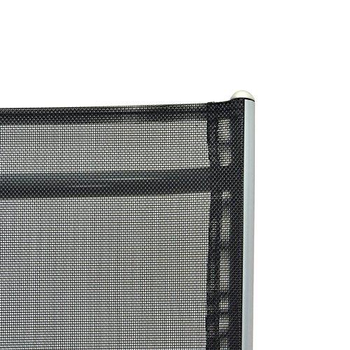 2er Set Klappstuhl Aluminium Komfortbreite Gartenstuhl Gartenstühle Klappstühle Alu schwarz - 2